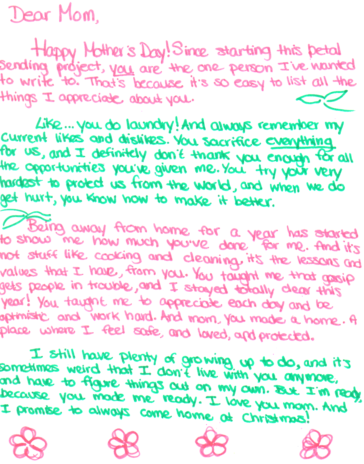 letter to mom letters 5 happy s day 171 sending petals 738